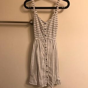 Old Navy blue/white striped button down dress XS
